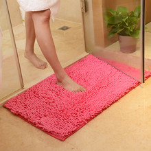 "50X80cm/19""x31"" Microfiber Chenille Bathroom Door Mat Rich Plush and Soft Highly Absorbent Bathroom Floor Mat(China)"