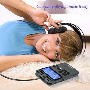 Image 5 - Vandlion profesjonalnego aktywowana głosem cyfrowy audio dyktafon 16GB PCM nagrywanie długi na baterie życie MP3 odtwarzacz muzyczny V35