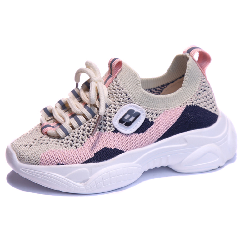 ULKNN Girls shoes AUTUMN 2019 new Pink net children 39 s breathable soft bottom sports shoes boys casual wild student shoes in Sneakers from Mother amp Kids