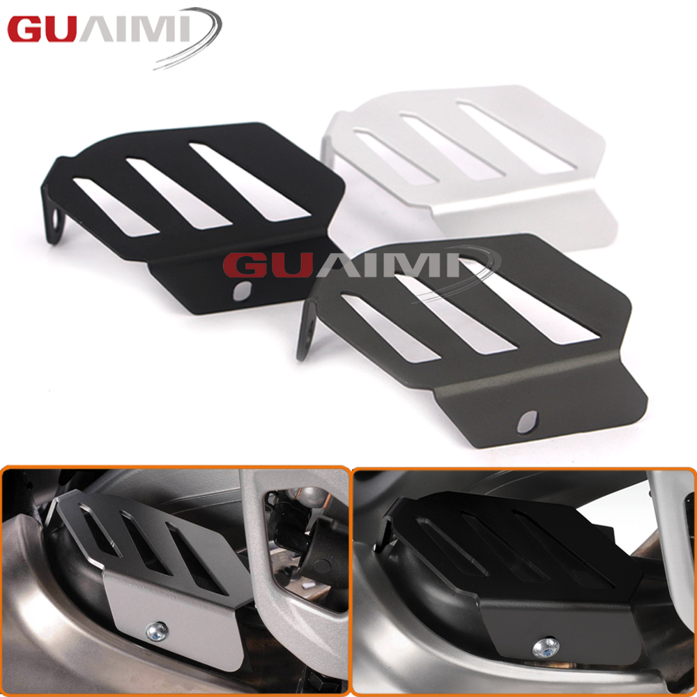 For BMW R1200GS LC 2013-2016/ R1200GS LC ADV 2014-2016/ R1200 LC15-16 Motorcycle Aluminum Exhaust Flap Guard Cover Protector акрапович для бмв r1200gs 2013