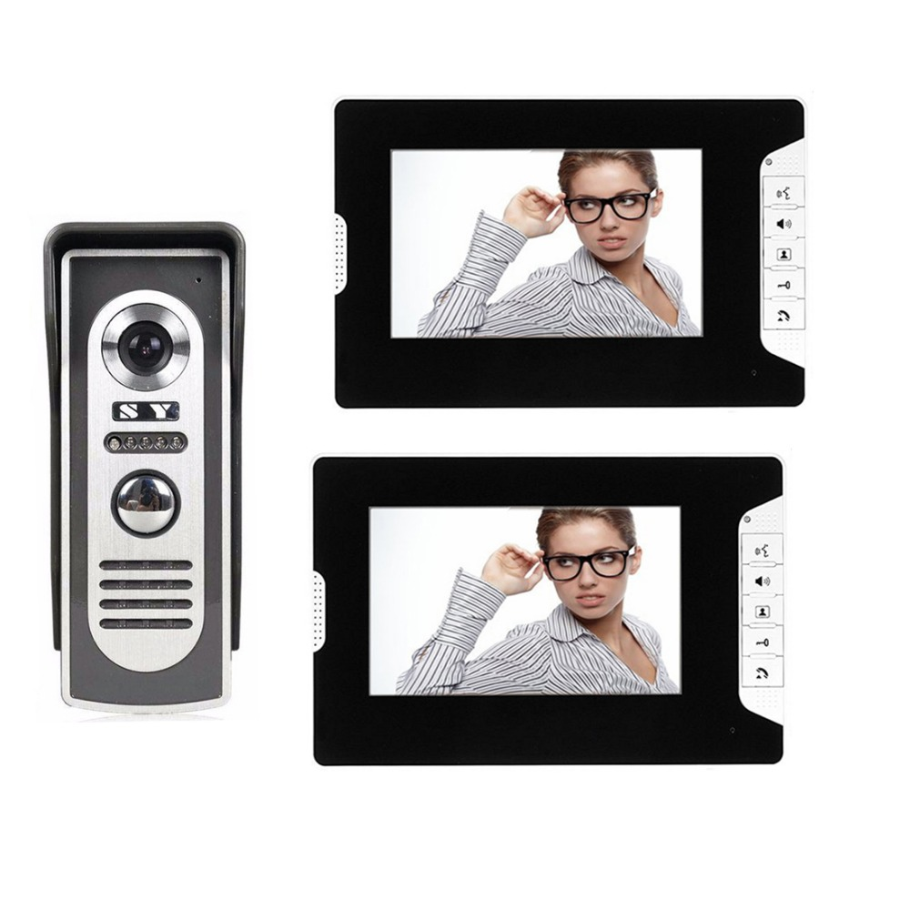 SYSD 7 inch Wired video doorbell intercom Color Video door phone Intercom System Weatherproof Night Vision Camera Home Security SYSD 7 inch Wired video doorbell intercom Color Video door phone Intercom System Weatherproof Night Vision Camera Home Security