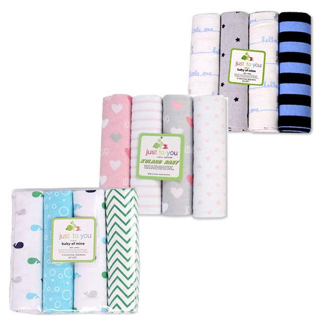 2017 Marca Nova Roupa Do Bebê Cobertores Do Bebê Recém-nascido de Algodão Bonito 4 Padrões de Cama Super Macia Envelope Para Carrinho De Bebê