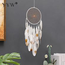 Dream Catcher Nordic Scandinavian Style Hanging Decoration Wind Chimes Feather Crafts Dreamcatcher Art Pendant