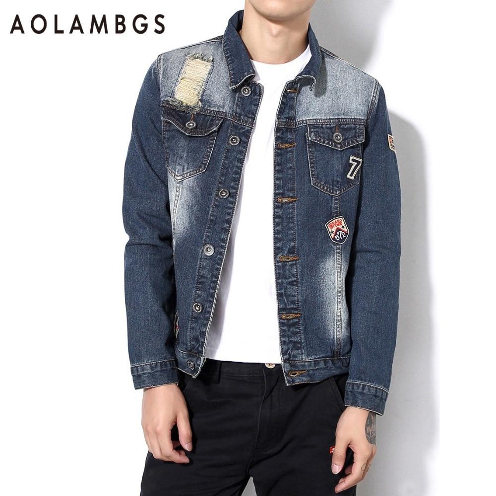 Online Get Cheap Mens Ripped Denim Jacket -Aliexpress.com ...