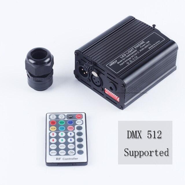 DMX 16 واط RGBW LED الألياف البصرية محرك RF التحكم عن بعد لجميع أنواع الألياف البصرية كابل سقف الإضاءة سائق