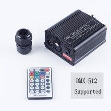 DMX 16 k RGBW LED Fiber optik motor için RF uzaktan kumanda her türlü Fiber optik kablo tavan aydınlatma sürücü