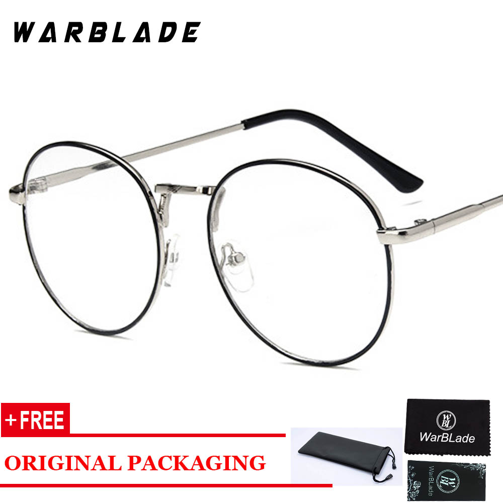 07f7289b68bb Round Clear Glasses Myopia Clear Lens Glasses With Transparent Glasses  Women Men Metal Ray Optical Glass Lunette femme 2018