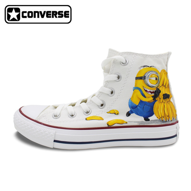 Womens Skateboarding Shoes Canvas Cartoon Banana Sport Sneaker