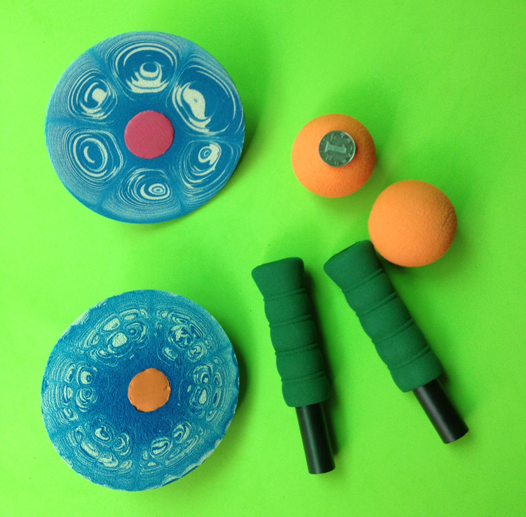 Game Toys To Practice : Amazing soft rubber foam target disk balance balls