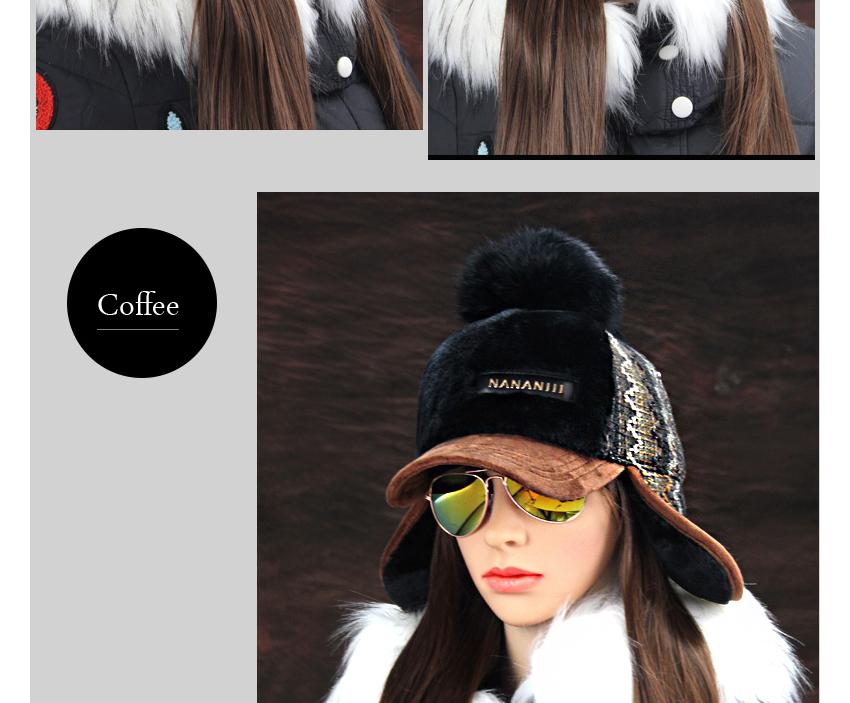 Chapeau Femmes Cache-oreilles Fausse Fourrure Caps Pompon