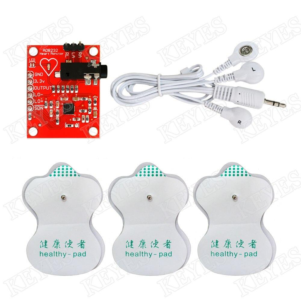 Keyes ECG Sensor, AD8232 ECG Measurement, Pulse ECG Monitoring Module ct4 22mm energy monitoring sensor clamp