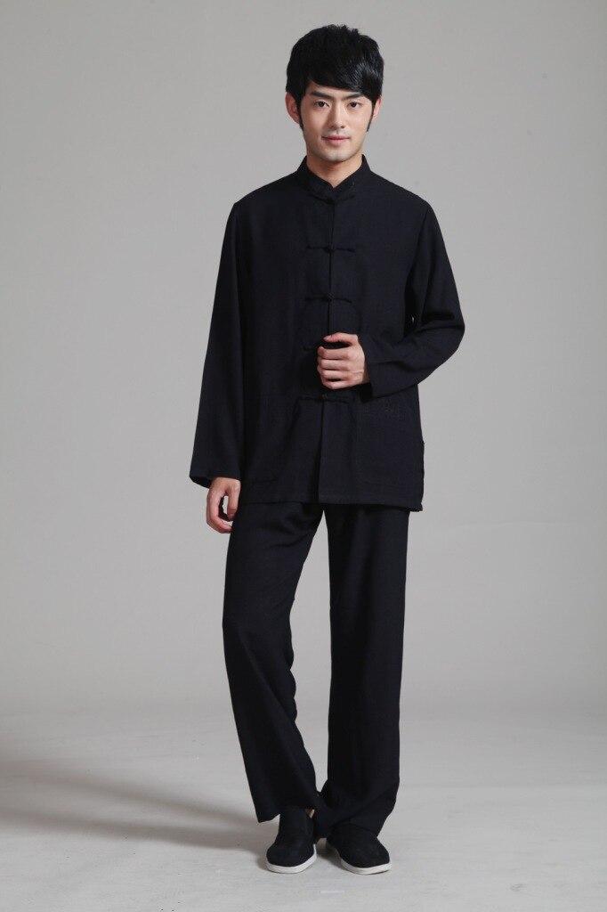 Tradizione Cinese di Stile degli uomini di Colore di Lino Kung Fu Set Pantaloni Giacca Pantaloni Tuta Taglia S M L XL XXL XXXL Trasporto Libero 2352-1
