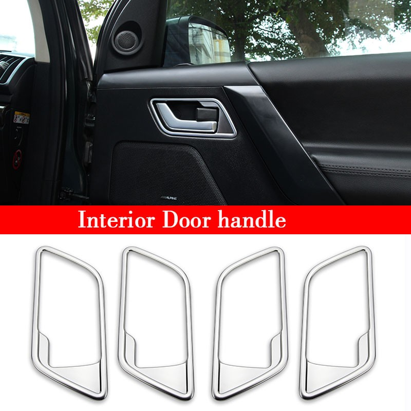 For Freelander 2 2008-2015 Car Accessories ABS Chrome Interior Mouldings AMG Window Button Frame