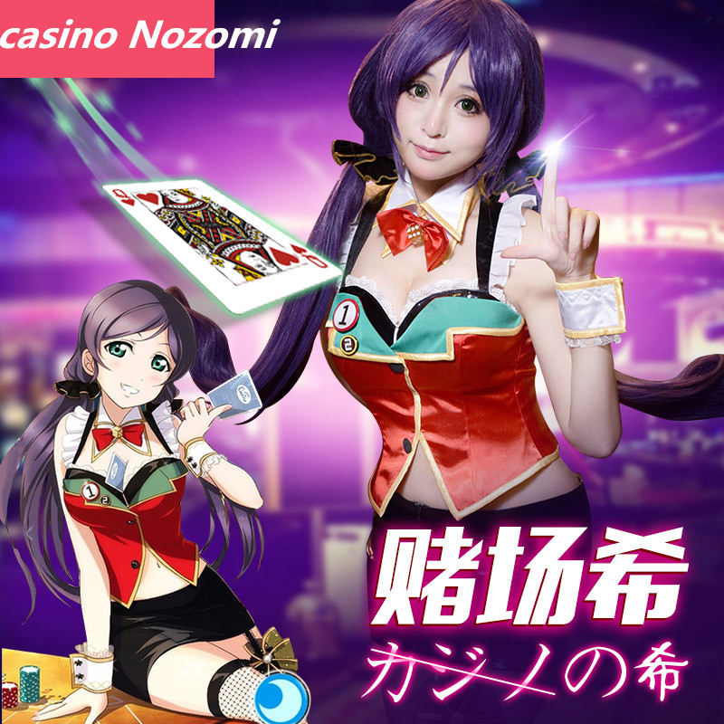 Amour en direct LL Las Vegas Le casino Nozomi Tojo cosplay costume EN VENTE glace prix crop top Unique cos costume