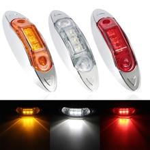 2pcs 3 LED Car Side Marker Tail Light External Lights DC 12V Auto Bus Trailer Rear Lamp