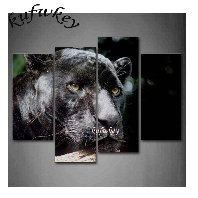 5d Pittura Diamante diy Black leopard Punto Croce Diamante Ricamo Immagine Di Strass Pieno di Diamanti Quadrato Mosaico adesivi
