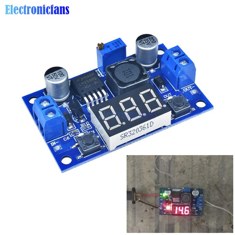 Diymore DC-DC Buck Step Down Module LM2596 DC/DC 4.0~40V To 1.25-37V Adjustable Voltage Regulator Step-down With LED Voltmeter