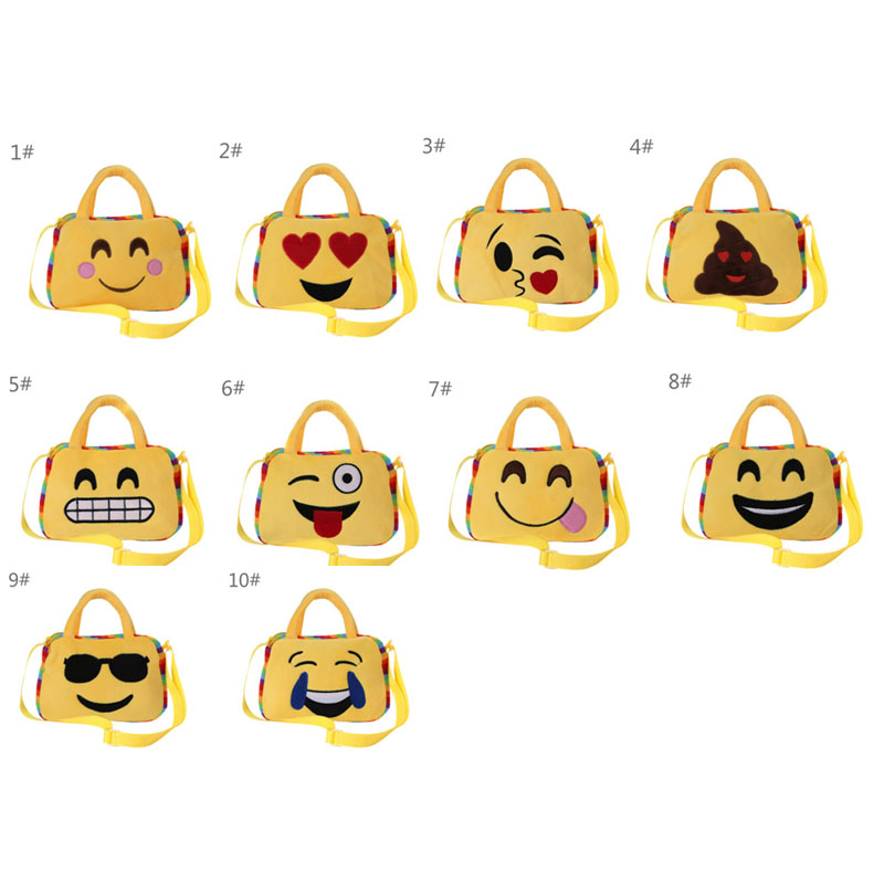Emoji bags Women School Child Hand Bag Rucksack portfolio school for teenagers mochila Bag Messenger Bags