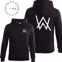 Winter Fleece Sweatshirt Alan Walker Faded Hoodie Men Sign Printing Hip Hop Rock Star Sweatshirt Fleece