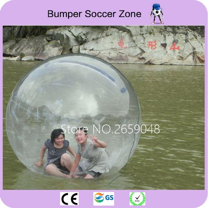 Livraison gratuite usine transparent boule de marcher sur l'eau, gonflable marche de l'eau boule, boule de Zorb pour piscine d'eau