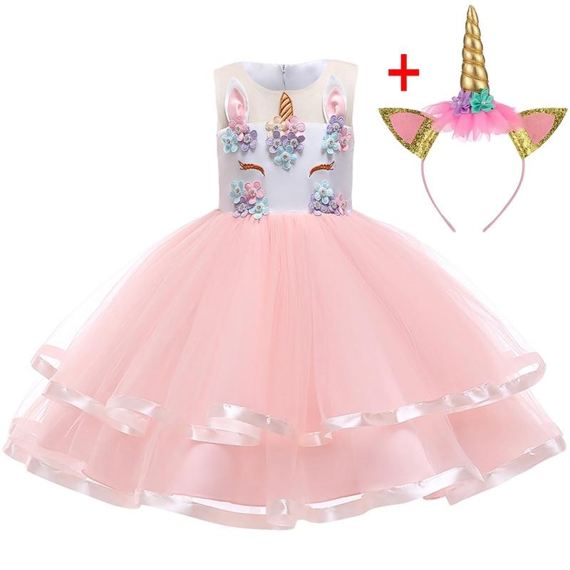 HTB1iGZYXN rK1RkHFqDq6yJAFXaI Unicorn Dresses For Elsa Costume Carnival Christmas Kids Dresses For Girls Birthday Princess Dress Children Party Dress fantasia