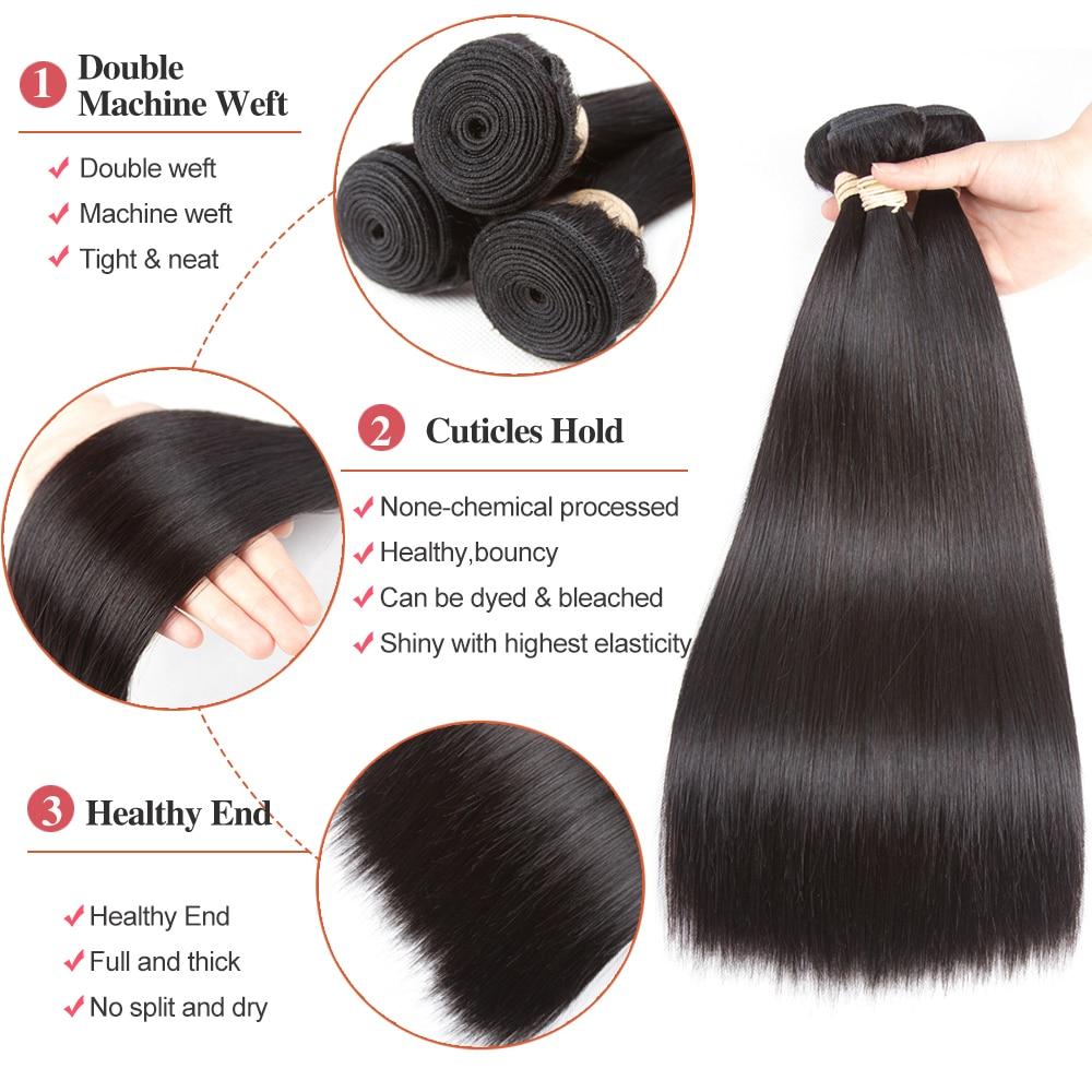 Beaudiva Rambut Pra-warna 100% Remy Rambut Manusia Bundel Dengan - Pasokan kecantikan - Foto 5