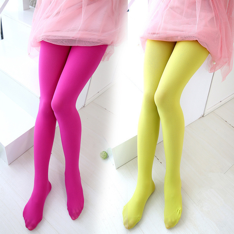 2019 Summer Children Tights For Baby Girls Stockings Soft Ballet Dance Velvet Candy Color Latin Pantyhose For Weddings Party