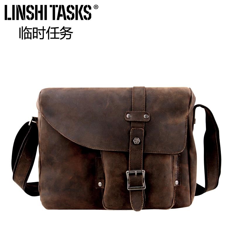 Men Messenger bags handbag Man bag genuine leather retro casual shoulder bag man messenger bags 2015 leather messenger bags