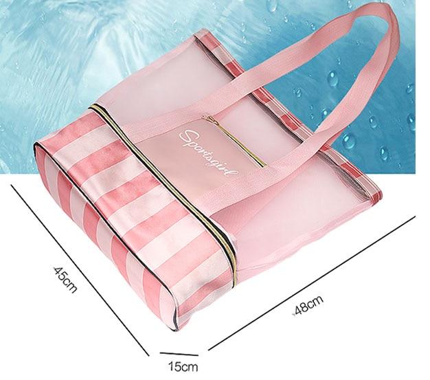 Women Swimming Bag Mesh Bags Handbags Wet and Dry Swimsuit Bags Net Travel Pool Beach Pouch Collection sack Sac De Sport XA387WA