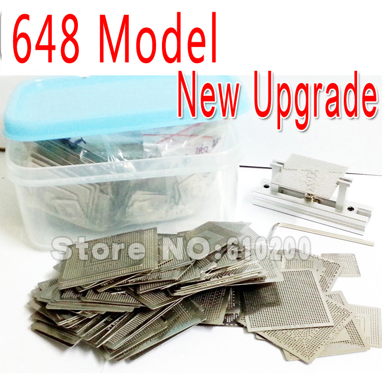 2015 New Upgrade 648/model BGA Stencil Bga Reballing Stencil Kit with direct heating Reballing station Replace 561/pcs new upgrade 810 model bga stencil bga reballing stencil kit with direct heating reballing station replace 715 pcs