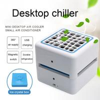 USB Mini Air Cooler Portable Air Conditioner Conditioning Humidifier Purifier Desktop Air Cooling Fan For Home Office Gadgets
