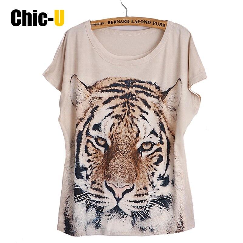 Tee shirt femme tigre