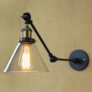 Image 4 - Iwhd Loft Phong Cách Bóng Đèn Edison Led Đèn Chao Đèn Thủy Tinh Đầm Tay Dài Vintage Đèn Tường Sconce Lampara Pared