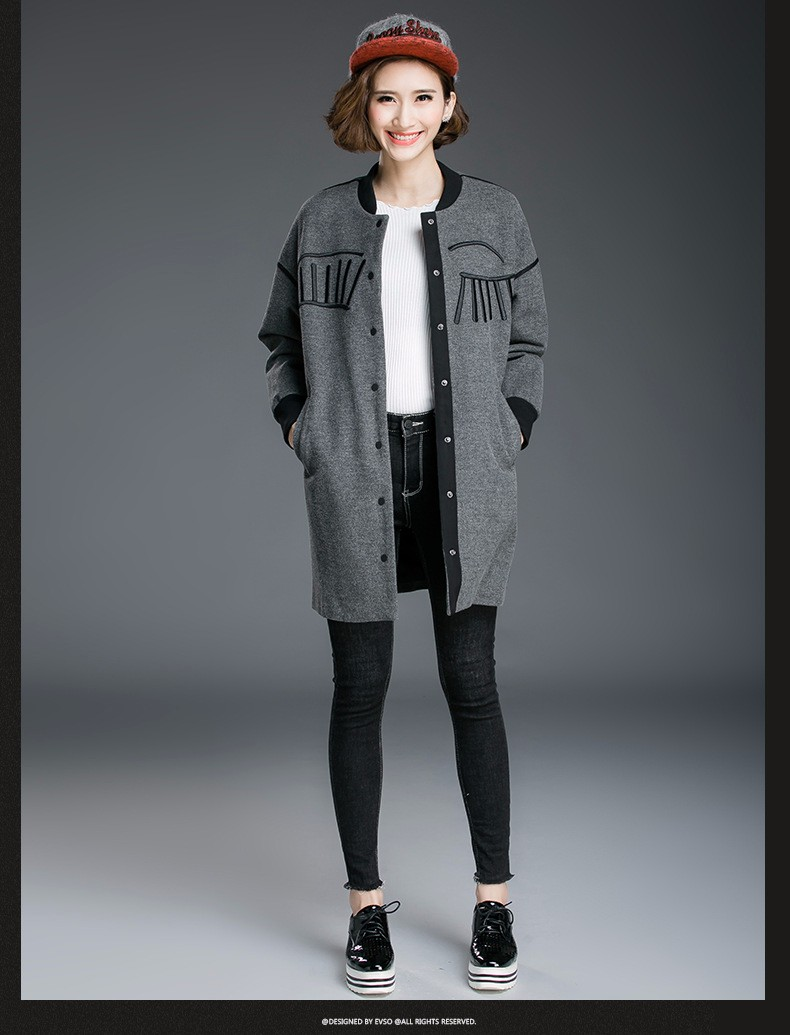 03f05bb4a New 2016 Autumn winter plus size women clothing embroidery long jacket coat  female loose outwear casual tops outfit XXXXXL 8091-in Basic Jackets from  ...
