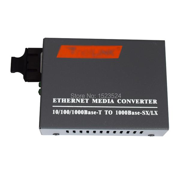 Frete Grátis HTB-GS-03 Gigabit De Fibra Conversor de Mídia Óptica 1000 Mbps Porta 20 KM Monomodo Duplex SC fonte de Alimentação Externa