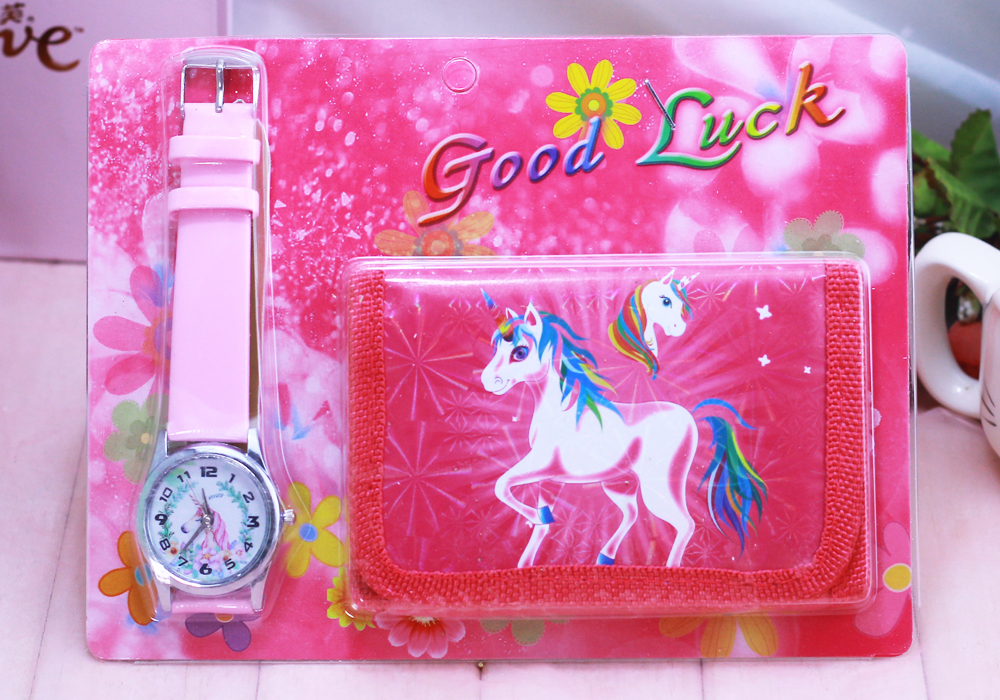 2018 New Unicorn Kids Watch Digital Watch Wallet For Kids Girls Watches Cute Unicorn Girl's Clock Children Wristwatches