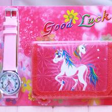 2018 new Unicorn kids Watch Digital watch Wallet for kids Girls watches Cute Unicorn Girl's Clock Children wristwatches