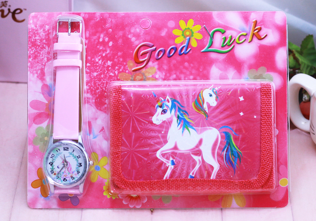 2018 new Unicorn kids Watch Digital watch Wallet for kids Girls watches Cute Uni