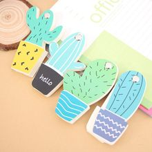 1pcs Kawaii Stationery Memo Pad Bookmarks cactus sticky note Lovely Office accessories School supplies