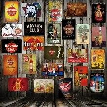 [WellCraft] CUBA Habana CLUB de Metal estaño signo Guevara pin up placa de pared cartel Vintage música bar Pub Retro pintura FG-239