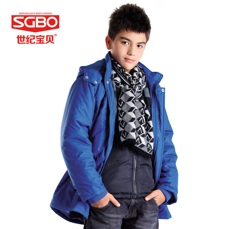 2 Pieces Warm Hooded Boys Parka Blue/Yellow/Army Green Kids Winter Coats Children Thick Jackets Boy Cotton Quilted jacket 9A2209