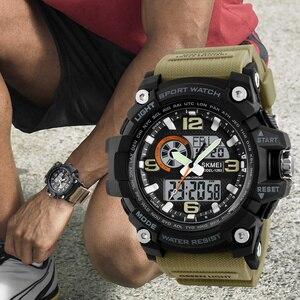 Image 3 - SKMEI yeni S şok erkekler spor saatler büyük arama kuvars dijital saat erkekler lüks marka askeri su geçirmez erkek kol saatleri