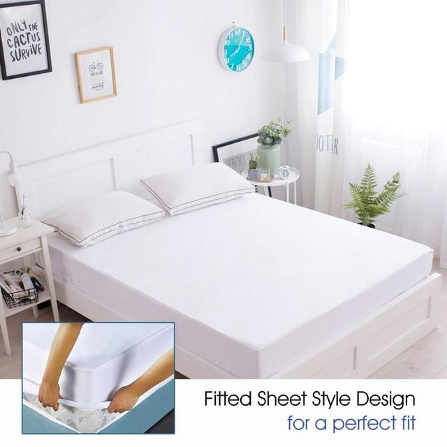 IRoyal 80X200CM Terry Mattress Cover Fitted Waterproof Sheet Bed Bug Proof  Mattress Protector Funda De Colchon