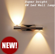 2016 Más Nuevos Modernos LED de Pared de Luz 6 W Led de Pared de Luz cama Baño baño del Hotel de La Lámpara Pared del Dormitorio de La Lámpara Caliente/Blanco Frío 85-265 V