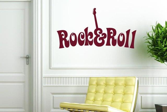 Slaapkamer Muur Quotes : Zanger ster muurtattoo quotes rock en roll speciale ontwerp