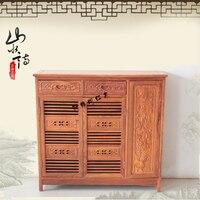Çin antika gül ağacı yeni giriş pavilion kenar ayakkabı depolama ayakkabı basit ahşap dolap maun mobilya