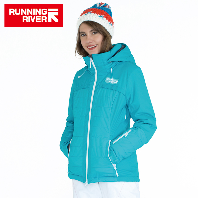 69023a8421 RUNNING RIVER Brand Women Winter Hooded Ski Jackets High Quality  Professional Ski Clothing Woman Outdoor Sports Jackets  A6032