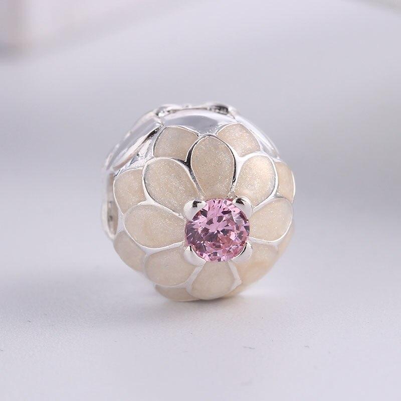 6b0f44d53 ... wholesale 100 925 sterling silver fit original pandora bracelet  christmas blooming dahlia clip cz charm beads