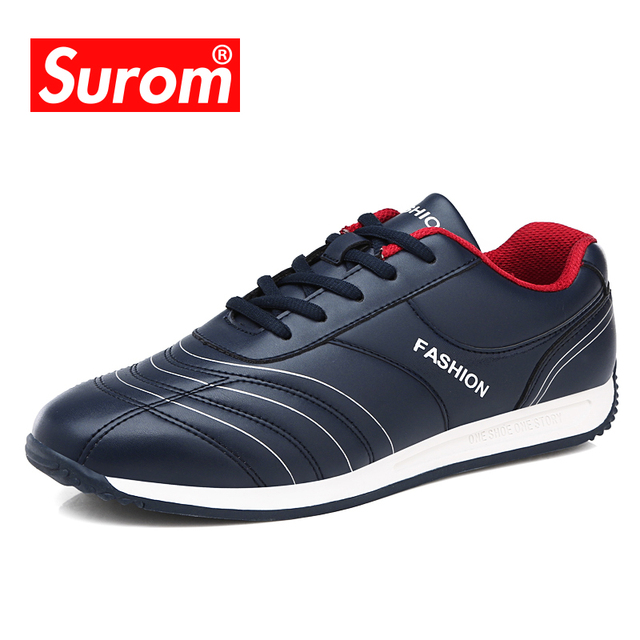 SUROM Popular Casual Shoes For Men High Quality Fashion Comfortable Brand Breathable Male Shoes white blue black sneakers Sale