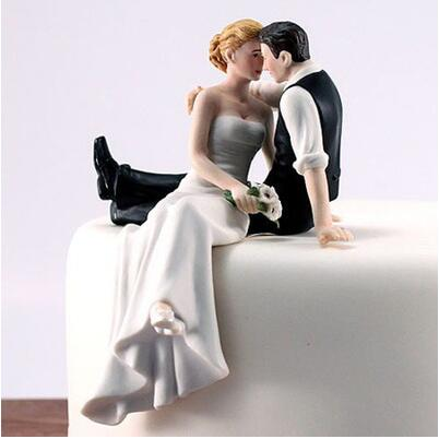 The Look Of Love Bride and Groom Couple Figurine Ceramic Wedding Cake Toppers